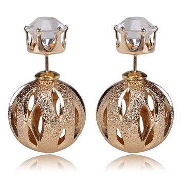 Gum Tee Mise en Style Tribal Earrings - Crystal Golden Spiral