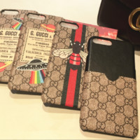 Gucci print phone shell phone case for Iphone 6/6s/6p/7p/7/8/8p