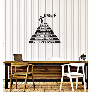 Vinyl Wall Decal Success Pyramid Office Space Interior Motivation Art Stickers Mural (ig5736)
