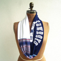 Dallas Cowboys T Shirt Infinity Scarf / Blue White / Upcycled / Recycled / Soft / Cotton / Unique / Gift for Her or Him / Star / ohzie