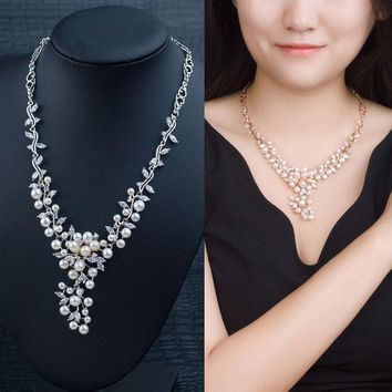 CREYUG3 Jewelry Shiny Gift Stylish New Arrival Pearls 925 Silver Prom Dress Accessory Necklace [4914871876]