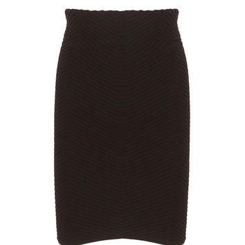 Seamless Textured Mid Length Skirt