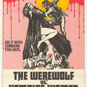 Werewolf vs. the Vampire Women 11x17 Movie Poster (1972)