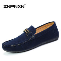 2015 Leather Casual shoes men Loafers Slip-On Driving Shoes Men Lazy shoes Gommini Moccasins Sewing Fashion Flats men zapatillas