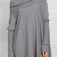 Cupshe On the Loose Big Lapel Casual Sweater