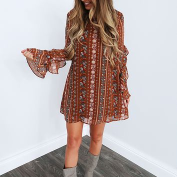Fall Flowers Dress: Multi