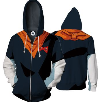 Dragon Ball Super Android17 3D Cloth Hoodies Sweatshirts