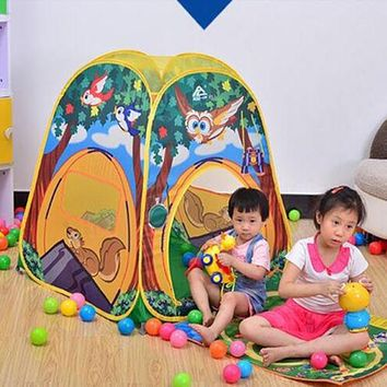 owl Children kids outdoor game  play tent