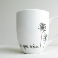 "Coffee Mug - ""As You Wish"" Mug - The Princess Bride Coffee Cup - Tea Cup - Black and White Mug"