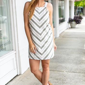 Golden Hour Stripe Tank Dress