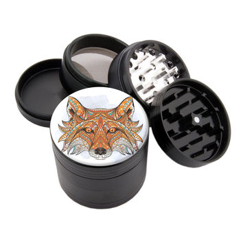 "Native Fox - 2.25"" Premium Black Herb Grinder"