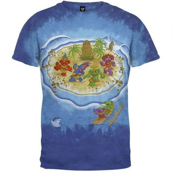 ICIK8UT Grateful Dead Tiki Bears Tie Dye T-Shirt