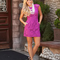 Summer Bridal Dress Magenta