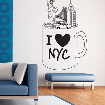 Vinyl Wall Decal Sticker NYC Mug #OS_DC732