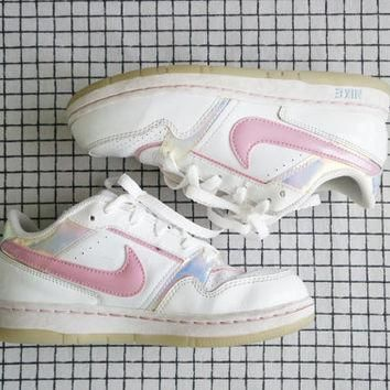 Nike Holographic Pink Sneakers, 2Y/ US 5.5