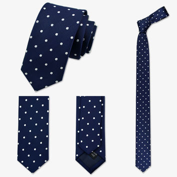 Apostyles: Slim casual Dot/striped Long Neck-ties