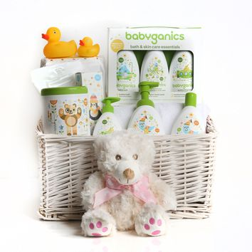 Babyganics Essential Baby Girl Basket