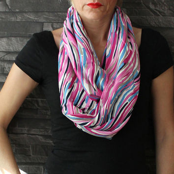 Infinity Scarf Loop Scarf Circle Scarf Rainbow Scarf Cowl Scarf Soft and Lightweight