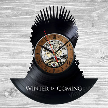 Game clock vinyl decor of thrones winter is coming egg embroidery engagement ring replica t shirts tie tank top tyrion clip tote bag tyrell