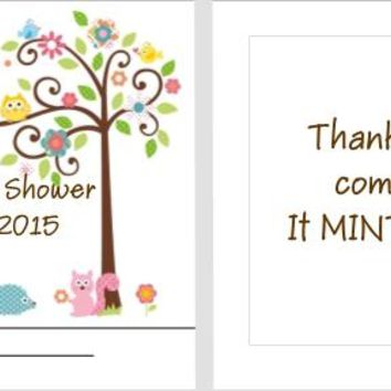 20 Happi Tree Owl Baby Shower Mint Favors