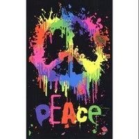 Walmart: Black Light - Peace Sign Poster Print (23 x 35)