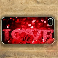 Heart Love -iPhone 5 case, iphone 4s case, iphone 4 case, Samsung GS3 case-Silicone Rubber or Hard Plastic Case, Phone cover