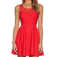BCBGeneration Tie Back Dress in Red