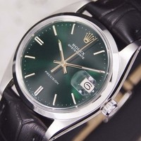 Authentic Rolex Oysterdate Precision Ref.6694 Green Dial Manual Mens Watch