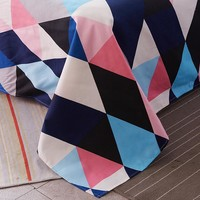 Colorful Twin Flat Sheets King Size Pretty Geometric Plaid Bed Sheets Queen Size Bed Lines Multicolor Grids Bedsheet