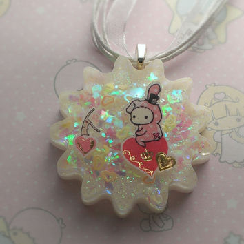 "Sentimental Circus ""Sitting on My Heart"" Super Kawaii Necklace"