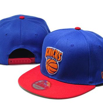 New York Knicks New Era NBA 9FIFTY Cap Blue-Red