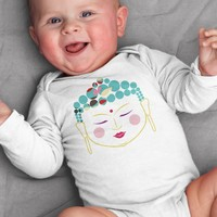 Buddha Baby Onesuit Bodysuit for Baby Boy or Baby Girl 3 - 12 Months Long or Short Sleeve