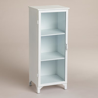 White Giselle Single Cabinet - World Market