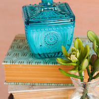 TRANQUIL LOTUS PRESSED GLASS CANDLE