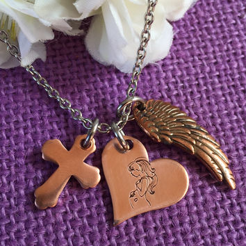 Miscarriage necklace - Miscarriage Jewelry - Sympathy gift - Miscarriage keepsake - Memorial - Remembrance  - copper