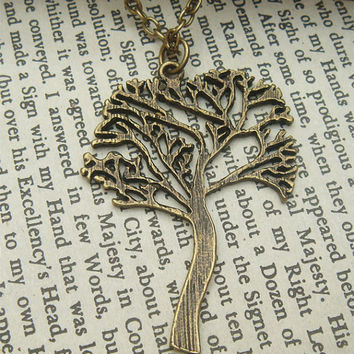 Tree Brass Necklace