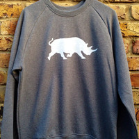 Rhino Sweatshirt - look cool and help save the Rhinos