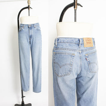 "Vintage Levi's 550 JEANS - Cotton Denim Relaxed Fit Tapered Leg High Waist Mom Jeans 1990s - 29"" x 30"""