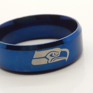 seattle seahawks Stainless Steel ring