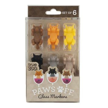 Paws Off Glass Markers By True Zoo