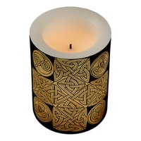 Celtic Knotwork Cross Flameless Candle