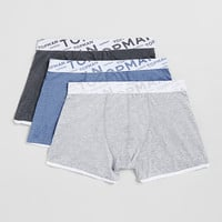 Grey/Charcoal/Blue Underwear 3 Pack - Topman