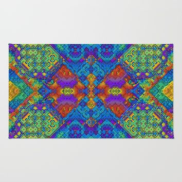 Festive Mosaic Rug by Lyle Hatch