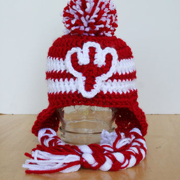 Indiana University baby hat, IU Hoosiers, hats for toddlers, IU cap, IU hat, 12 month to 4t sizes