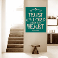 Religious Wall Quote. Trust In The Lord v1 - CODE 141