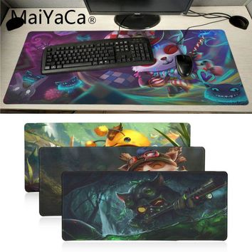 MaiYaCa Beautiful Anime League of legends Teemo High Speed New Mousepad Unique Desktop Pad Big Size Game Mousepad