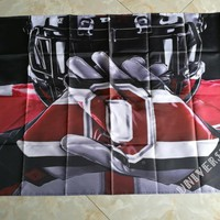 3ft x 5ft Ohio State Buckeyes Flag  Polyester NCAA Banner Ohio State Buckeyes Flying Size  Custom flag