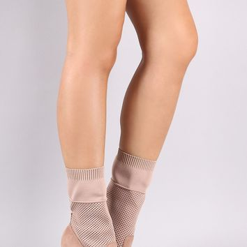Anne Michelle Pointy Toe Stiletto Sock Mid-Calf Boots