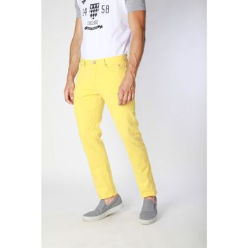 Jaggy Men Yellow Jeans