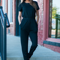 Stay With Me Jumpsuit, Black